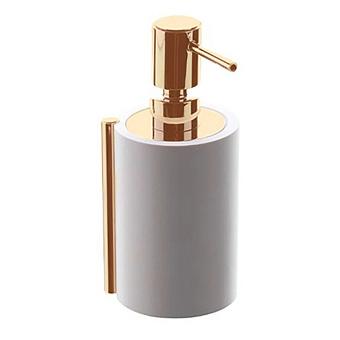 """Bertocci Easy Дозатор, отделка """"тысяча строк"""", подвесной, цвет: белый матовый/розовое золото"""