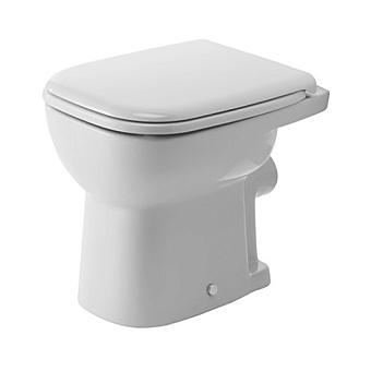 Duravit D-Code Унитаз напольный 48х35см, для независимого подключения воды,  включая крепление, слив встену, цвет белый