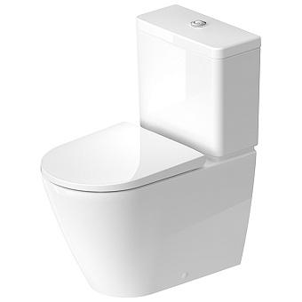 Duravit D-Neo Моноблок 37x65 см, безободковый, слив универсальный, цвет: белый