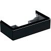 Geberit iCon Тумба с раковиной 89х24х47.7см, с 1 отв., подвесная, с одним выдвижным ящиком, цвет: темно-серый/матовое покрытие