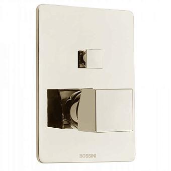 Bossini Cube Смеситель для душа, встраиваемый, 2 выхода , цвет: никель шлифованный