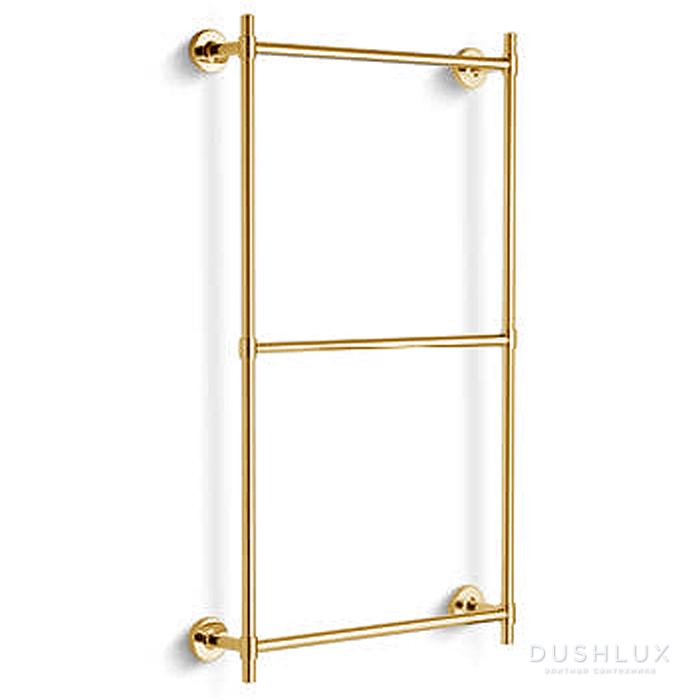 Bertocci Cinquecento Полотенцедержатель тройной 60х60 см, цвет: золото
