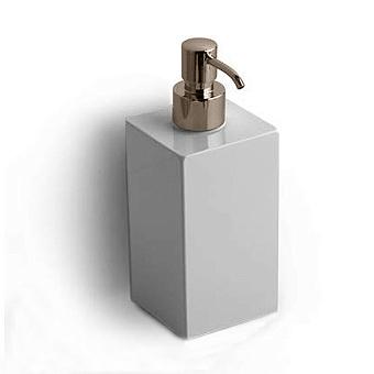 Bertocci Settecento Дозатор подвесной, цвет: белый матовый композит/nichel mat