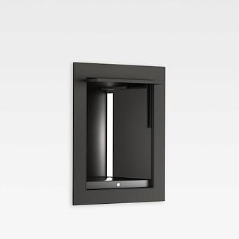 Armani Roca Island Встраиваемый шкафчик 20x16.7xh25см для хранения с подсветкой (транформатор 12V/DC не включен), цвет: nero