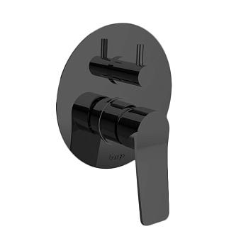 Bongio GIO2 Смеситель встроенный для душа с переключателем, 2 выхода, механический, цвет: черный матовый
