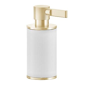 Gessi Inciso Дозатор для жидкого мыла, настольный, цвет: золото/белый