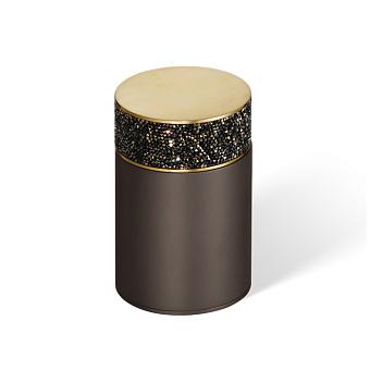 Decor Walther Rocks BMD1 Баночка универсальная 6.5x9.8см, с кристаллами Swarovski, цвет: темная бронза / золото матовое