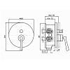 Zucchetti Bellagio Встроенный однорычажный смеситель для Zetasystem, цвет: хром