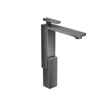 Axor Edge Смеситель для раковины, на 1 отв., с донным клапаном push/open, излив 180мм, алмазная огранка, цвет: черный
