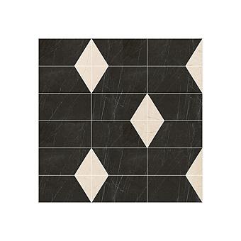 Devon&Devon Elite Плитка из натурального камня 60x60см, универсальная, мрамор, elite 14, цвет: black marquinha/crema marfil