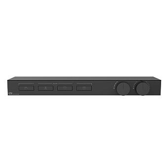 Gessi Hi-Fi Термостат для душа, с вкл. до 4 источников одновременно, с полкой из черного мат. стекла, цвет: Black XL