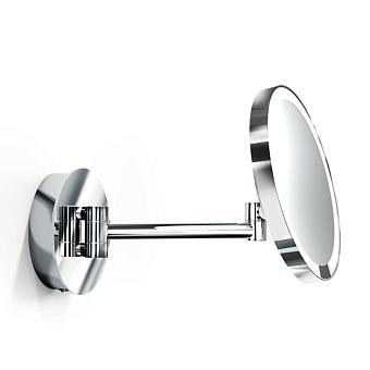 Decor Walther Round Just Look WR Косметическое зеркало 21.5см, подвесное, увел. 5x, подсветка LED, цвет: хром