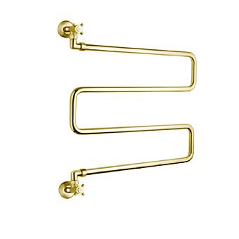 Margaroli Vento Полотенцесушитель водяной 63.5х45х13.5см, межосевое расстояние: 58.5см, цвет: золото