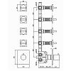 """Zucchetti Aguablu Термостатический смеситель, для скрытого монтажа 1/2"""", 4 ручки, цвет: хром"""
