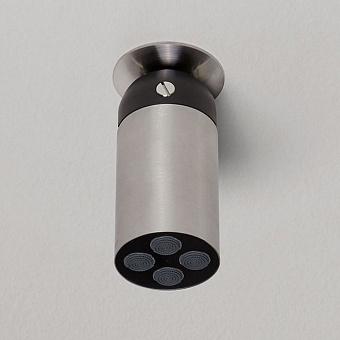 Antonio Lupi Azimut Настенная или потолочная душевая лейка, Ø 8см, с регулируемым потоком, цвет: шлифованная сталь