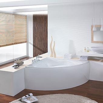 Hoesch Squadra Ванна угловая со съемной панелью 150х150х64см, цвет: белый
