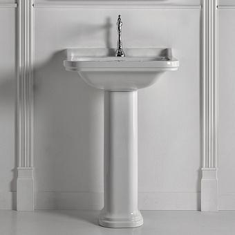 Kerasan Waldorf Раковина 60х55 см, 1 отв., керамическая, с пьедесталом, цвет: белый/хром
