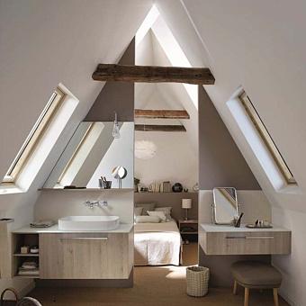 Burgbad Sys30 Комплект мебели: тумба с раковиной, 900х540х480 мм, 1 ящик, с металлическими кронштейнами, с зеркалом и светильником, с сифоном, ручка хром, цвет: Eiche Dekor Flanelle