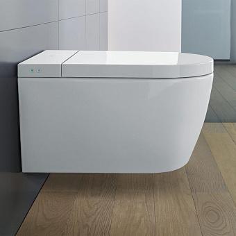 Duravit ME by Starck Унитаз подвесной Rimless 37.5х57.4см, с сиденье SensoWash® Starck f Lite, цвет: белый