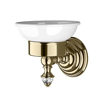 Devon&Devon Diamond Мыльница подвесная, белая керамика, цвет: светлое золото