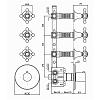 Zucchetti Agora Встроенный термостатический смеситель с 3 запорными клапанами, цвет: хром
