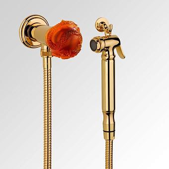 THG Dragon Sun Настенный гигиенический набор, цвет золото/хрусталь