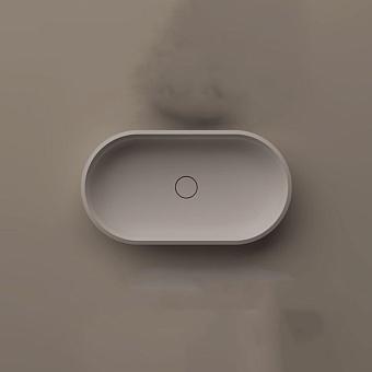 Agape Undici Раковина накладная 56х35х11см., без отв., без перелива, с донным клапанном, Solid surface, цвет: белый матовый