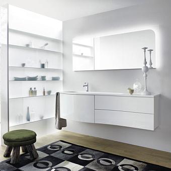 Burgbad Sinea 1.0 Комплект подвесной мебели 161x49x47.5 см, цвет белый глянцевый