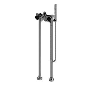 Stella Timeaster Напольный смеситель для ванны 3267/CL306 с ручным душем, ручка d=65мм, цвет: хром