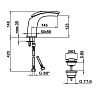 Смеситель для раковины Webert Aria AI832001 Хром с ручкой Promice