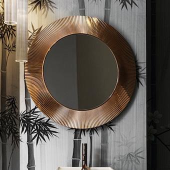 Laufen Kartell Зеркало круглое d=78см, настенное, без подсветки, цвет: янтарь