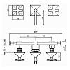 Zucchetti Bellagio Встроенный смеситель для ванны-душа с двухсторонним переключателем, цвет: хром