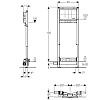 Duofix монтажный элемент для душевого трапа, Н130, выпуск 50 мм