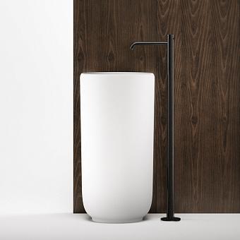 Falper Acquifero Смеситель для ванны, 1 отв., напольный, цвет: черный матовый