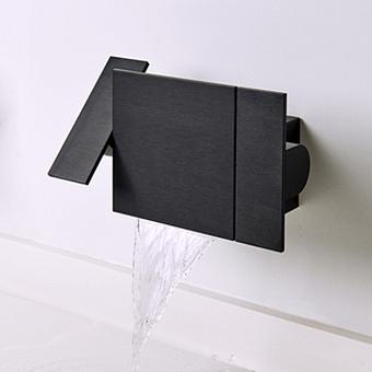 Agape Sen Настенный блок управления смесителя для душа или ванной кран, цвет: черный