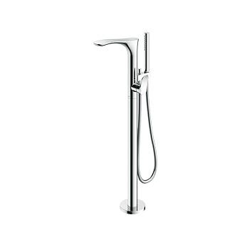TOTO NC Смеситель для ванны, 135x365x880 мм, отдельностоящий с ручным душем, Active Wave, цвет: хром