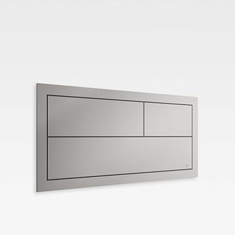 Armani Roca Island Сенсорная встраиваемая система двойного смыва 3/6 л. 550х41,5х250мм, цвет: silver