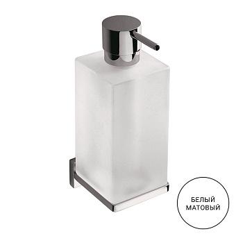 Colombo Look Дозатор для жидкого мыла подвесной, цвет: белый матовый/стекло