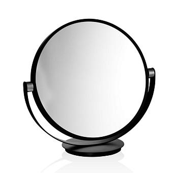 Decor Walther Club Vanity Косметическое зеркало 43см, настольное, увел. 5x, цвет: черный матовый / хром