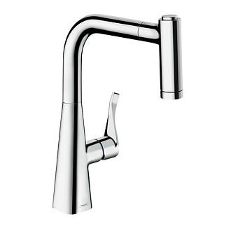 Hansgrohe Kitchen M7116-H320 Кухонный смеситель, однорычажный, с вытяжным душем, хром