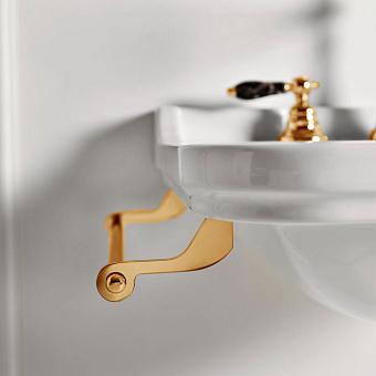 Kerasan Waldorf Полотенцедержатель боковой для раковин 40 см, подвесной, цвет: золото