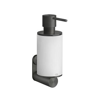 Gessi 316 Дозатор для жидкого мыла, настенный, цвет: белый/brushed black metal pvd