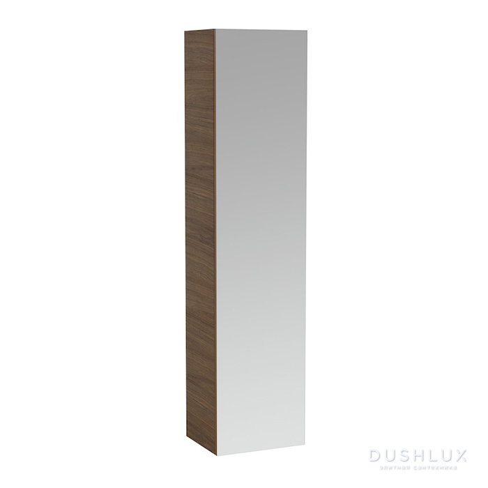 Laufen Alessi One Шкаф подвесной, 400х300х1700мм, с 1 зер дверцей, 4 полки, SX, цвет: орех