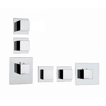 Bossini Cube Смеситель для душа, термостатический, встраиваемый, с запорным вентилем, на 2 - 4 выхода, цвет: хром