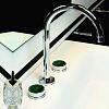 Zucchetti Savoir Смеситель для раковины на 3 отверстия с декорированным фланцем, цвет: хром
