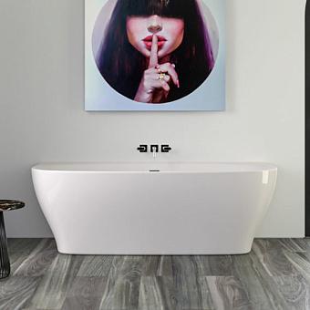 KNIEF Dream Wall Ванна пристенная 180х80х60 см, с щелевым переливом, цвет белый