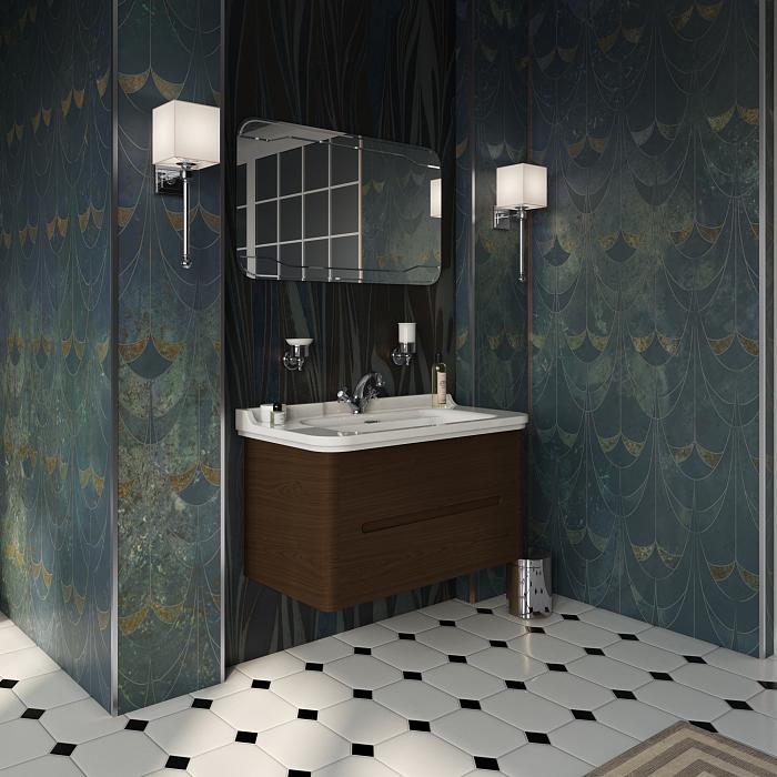 Kerasan Waldorf Комплект подвесной/напольной мебели 100см, с 2-мя ящиками Цвет: noce