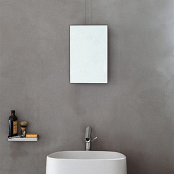 Agape Minuetto Зеркало подвесное 26x40 см, цвет: белый