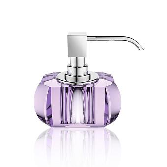 Decor Walther Kristall SSP Дозатор для мыла, настольный, хрустальное стекло, цвет: фиолетовый / хром