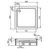 Kaldewei Duschplan, душевой поддон, материал сталь-эмаль 3,5 мм, диаметр слива 90 мм, полистироловая подушка, 900х900х65 мм, (необходимо доукомплектовать сифоном), цвет: белый